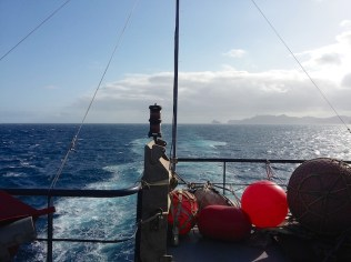 Stunning views of Cape Verde islands as we head south towards Praia.