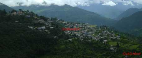 Town of Gopeshwar, nestled inbetween himalayas
