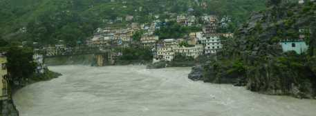 Rudraprayag, confluence of alaknanda and mandakini river