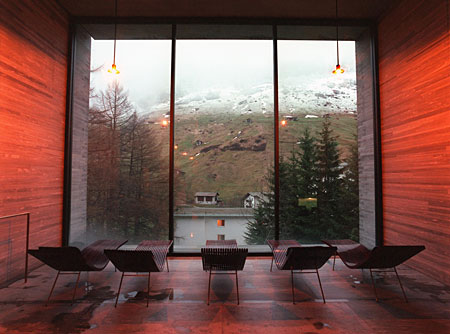Los baños termales del Vals, en el cantón de los Grisones, abiertos en 1996