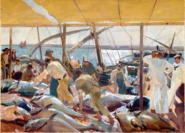 Ayamonte, la pesca del atún, 1919