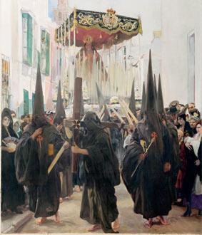 Sevilla, los nazarenos, 1914
