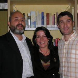 Con Alfonso y Chus en Turón