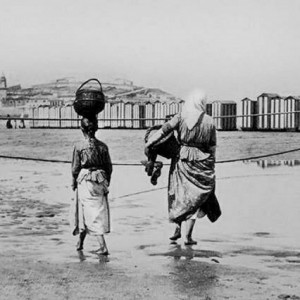 Mariscadoras en la playa - 1862