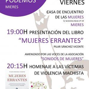 Cartel presentación en Mieres