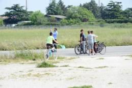 Il laboratorio di bici e aquiloni nel parco
