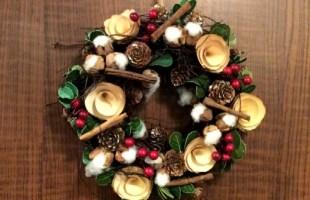 Xmas Wreath Cotton photo クリスマスイベント リース コットン 写真