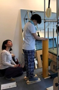 Pilates Equipment Machine Excecise Trial Footprints ピラティス マシン エクササイズ 体験会 フットプリント