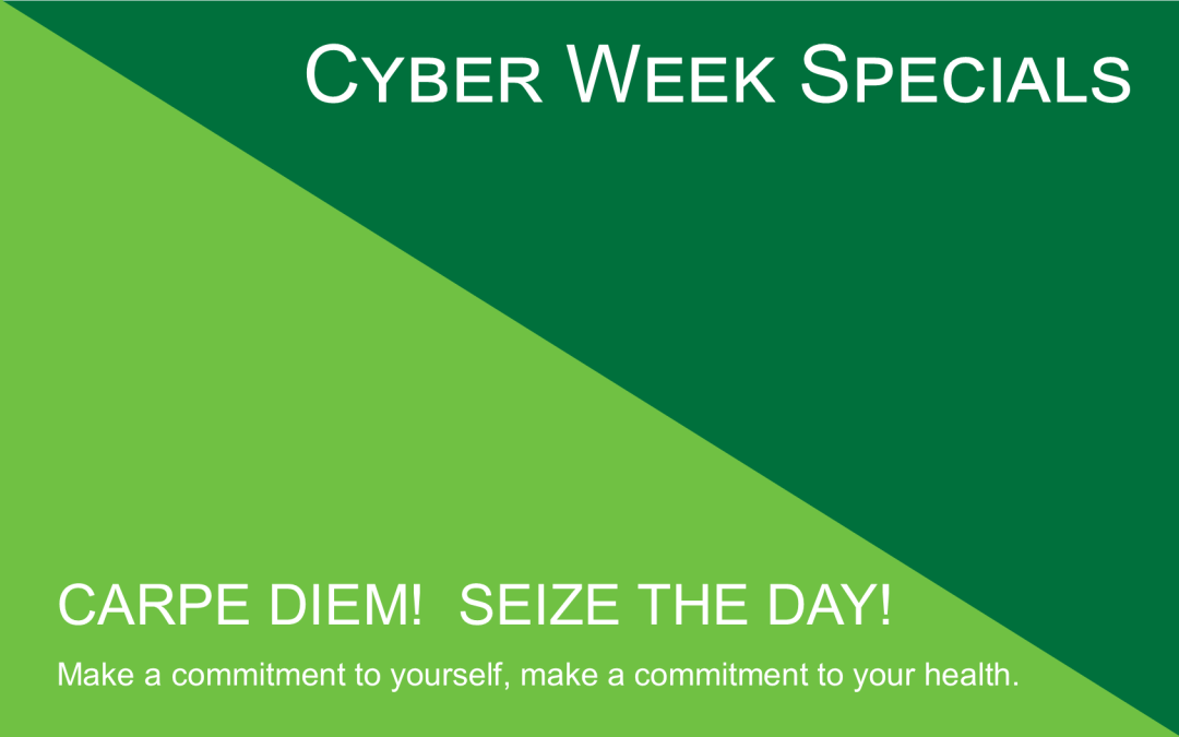 Cyber Week Specials Now untill Wednesday at Midnight