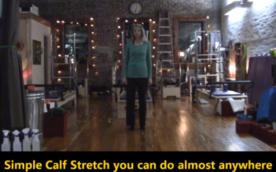 Simple Calf Stretch – Find Moments of Movement in your day
