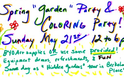 Spring Garden and COLORING Party
