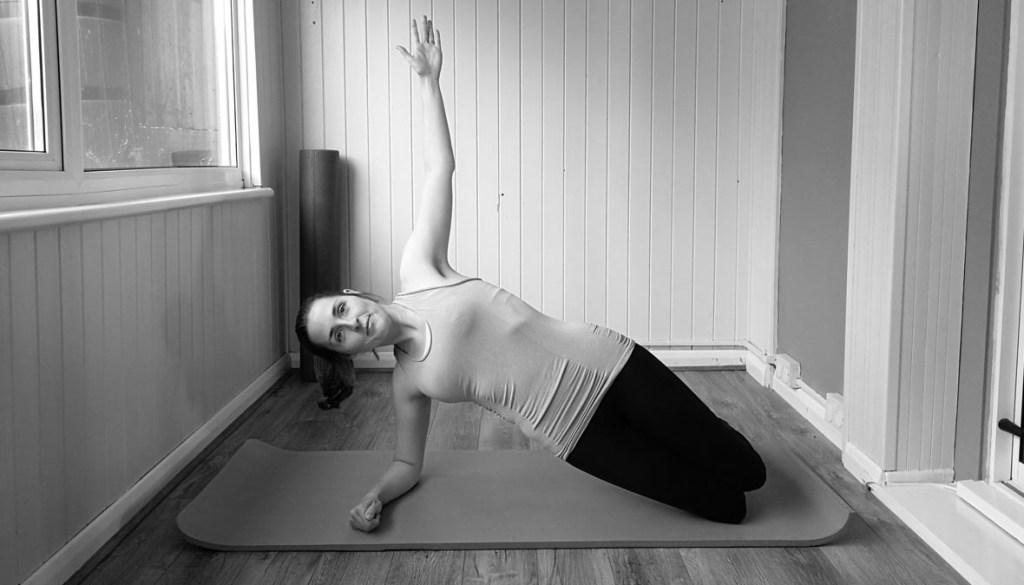 Kneeling side plank