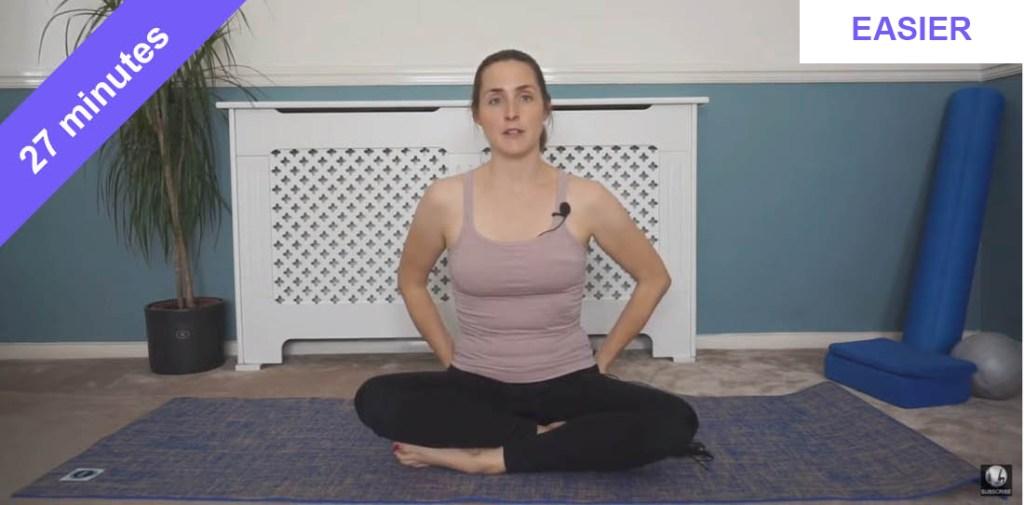 Relaxing Pilates class