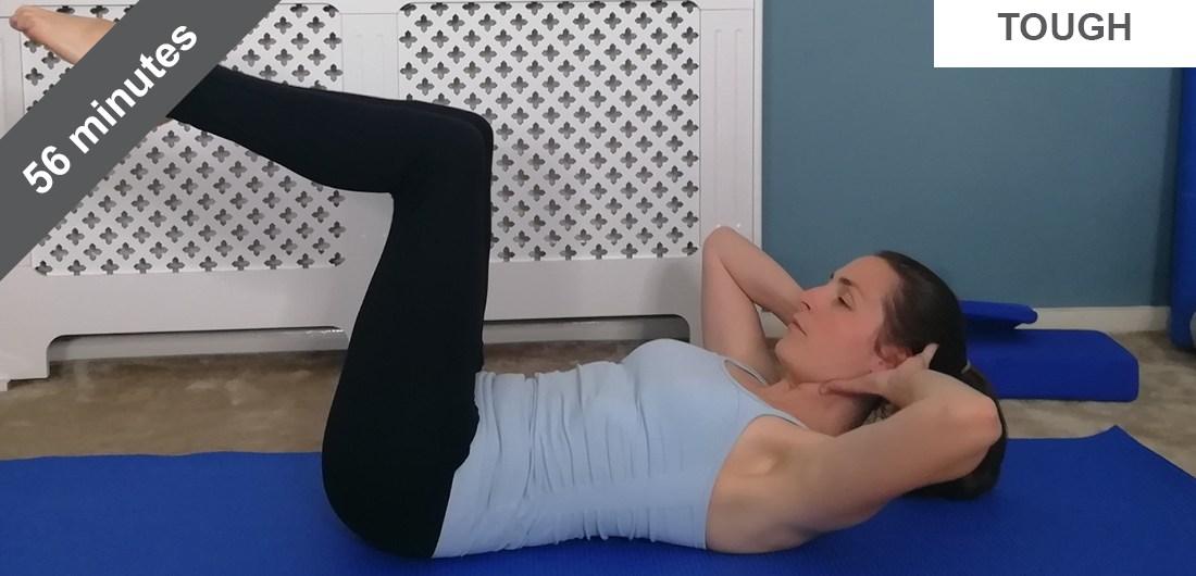 Full length Pilates mat class