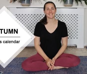 Autumn Pilates calendar