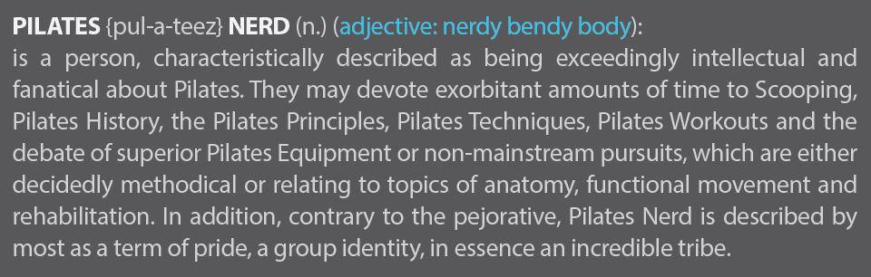 Pilates Nerd Definition