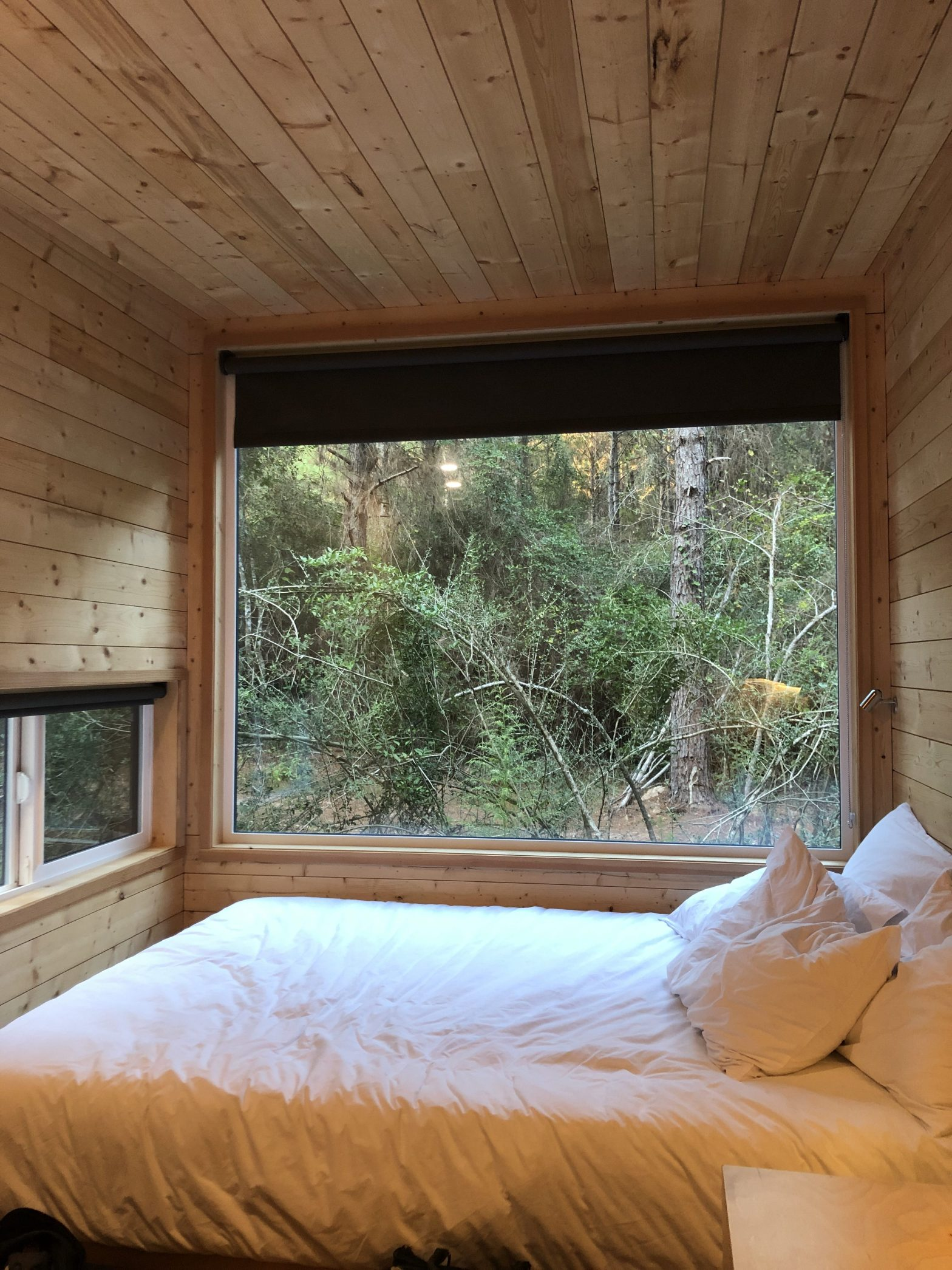 The big window gives you the best view inside the cabin.