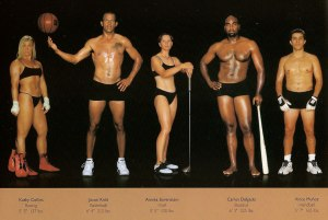 Different body types of elite athletes by Howard Schatz