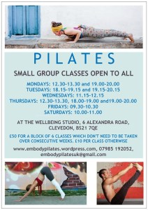 New A5 Embody Pilates poster