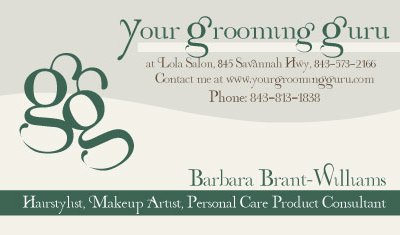 The Grooming Guru Logo and Business Card