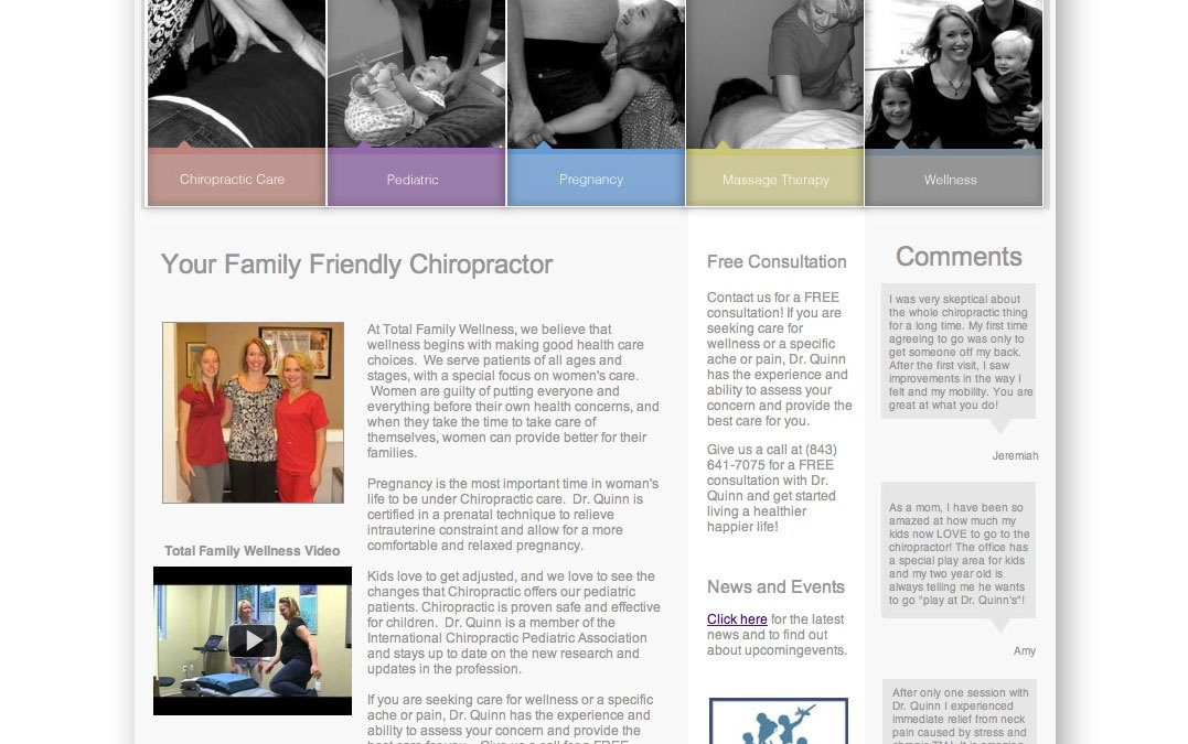 Total Family Wellness Website Design and Development