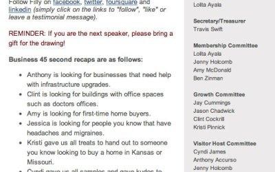 New E-Newsletters for BNI Kansas City Business Leaders!