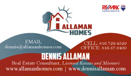 New Business Card Design for Allaman Homes