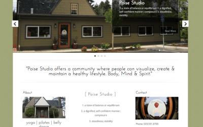 New Website for Poise Studio!