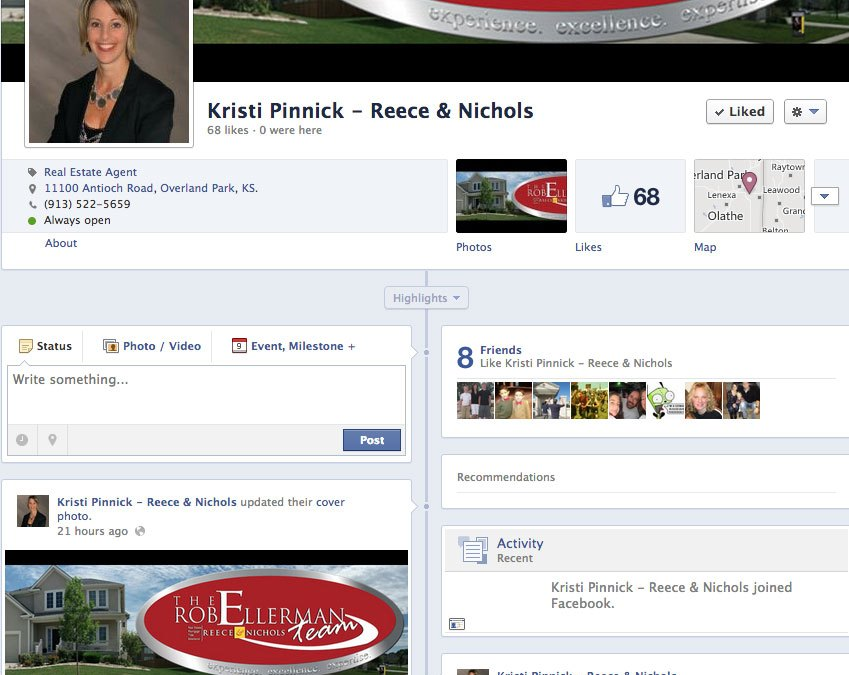 New Social Media for Kristi Pinnick of the Rob Ellerman Team at Reece & Nichols