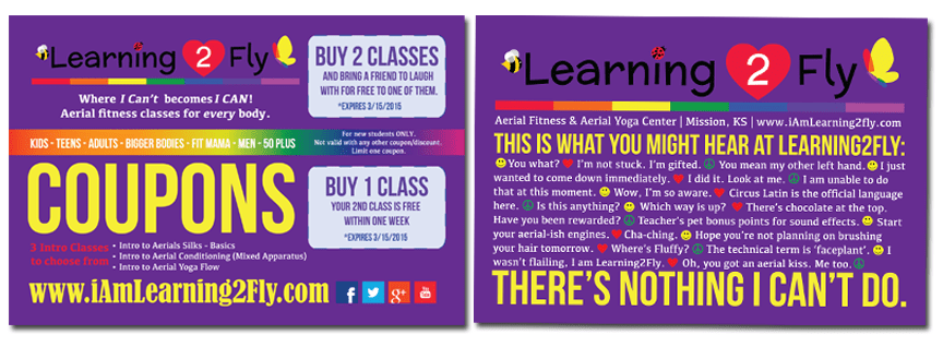New Postcard Design for Learning2Fly