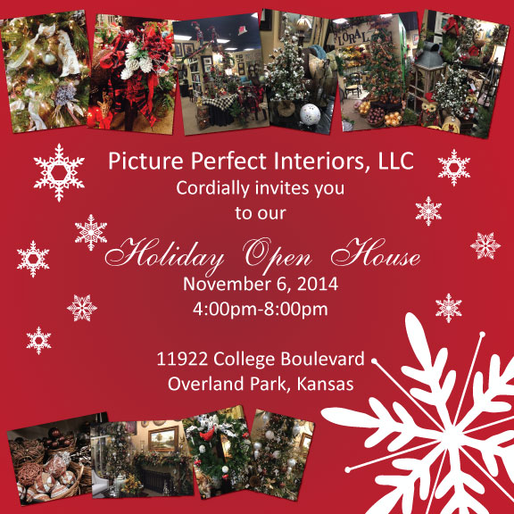 Holiday Promotional Design for Picture Perfect Interiors