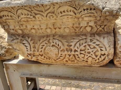 Sample inscriptions on pillar ruins in Capernaum