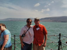 Johnny from Pax Christi and I on the Lake of Galilee