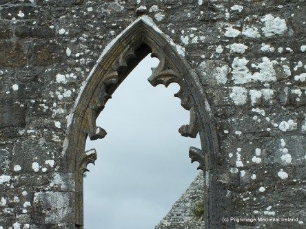 Tracery window in the east gable of Urlaur Church