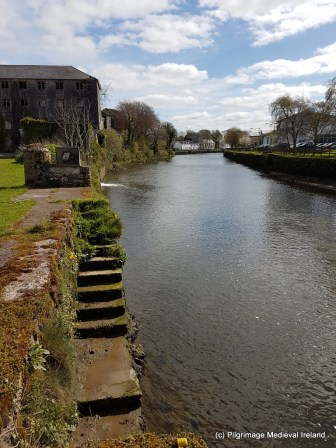 View of River Deel at Askeaton Friary.