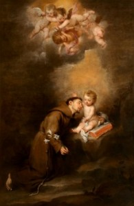 St Anthony de Padua with Child Jesus by Murillo