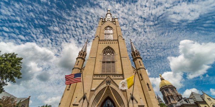 Basilica exterior (Photo courtesy University of Notre Dame)