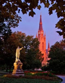 Oct. 15, 2013; Main Quad at dawn (Photo by Matt Cashore/University of Notre Dame)
