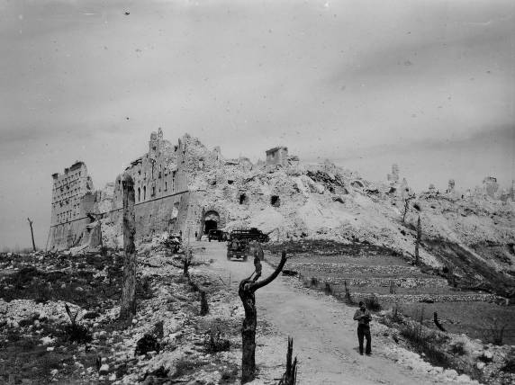 The aftermath of the Battle of Monte Cassino