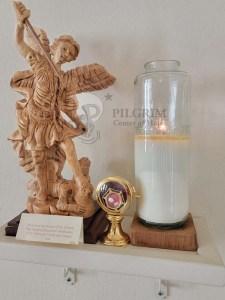 Gethsemane Chapel-St. Michael Statue & Relic Stones