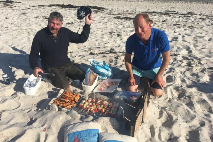 Pilgrim beach barbecue