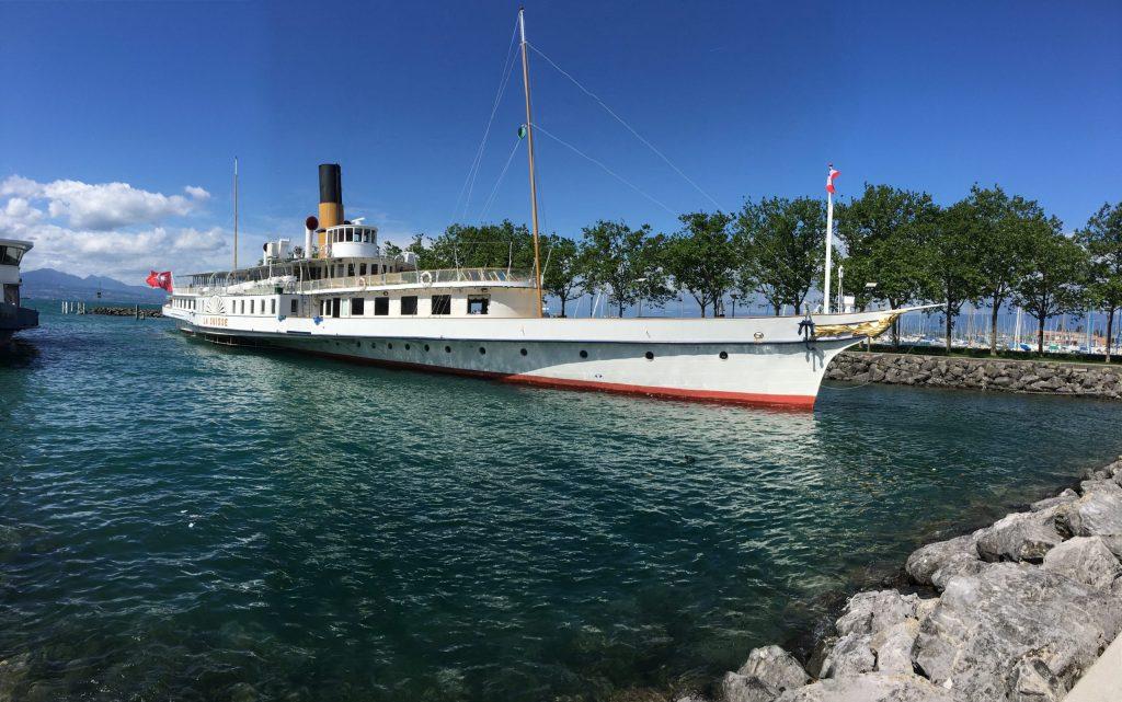 Ferry from Lausanne across Lake Geneva
