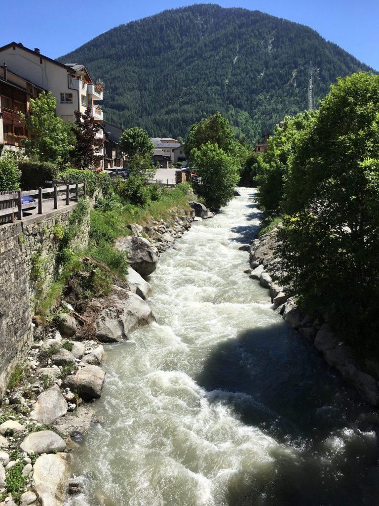 Orsieres mountain stream