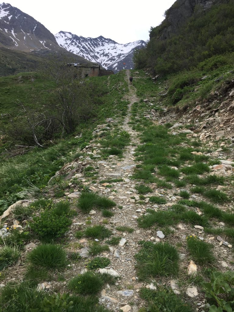 Rugged path up to the Pass