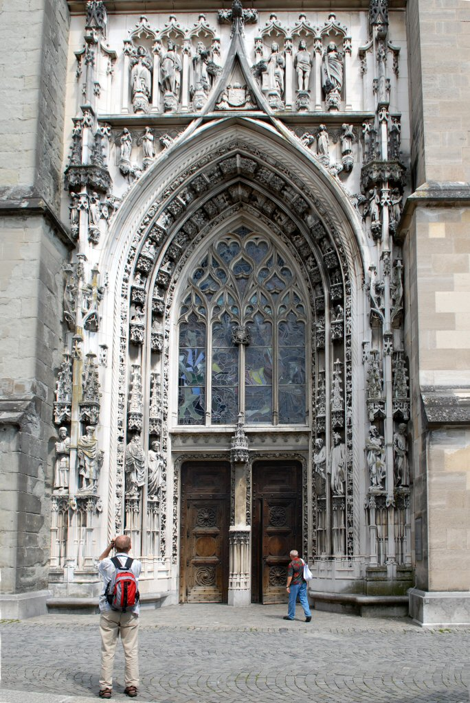 Lausanne Cathedral entrance