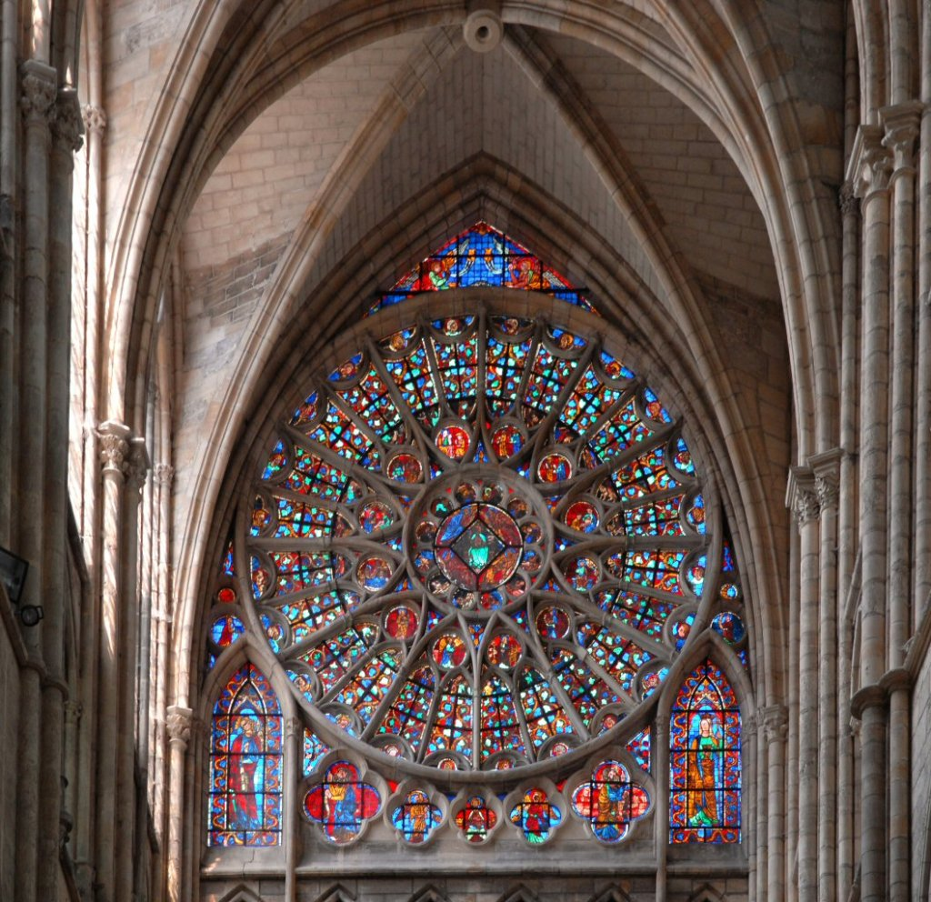 Chalons-en-Champagne cathedral  rose window