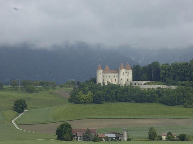castle shortly after leaving Yverdon, Les Bains
