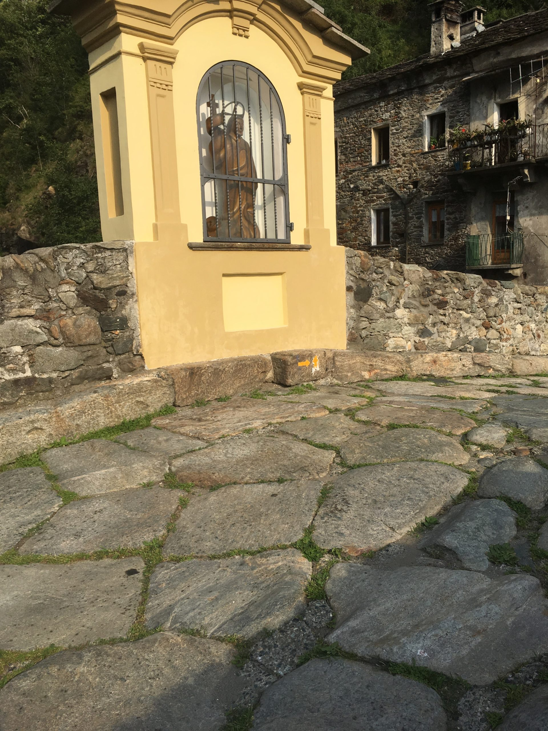 Shrine on the Ponte Romano, Pont St Martin