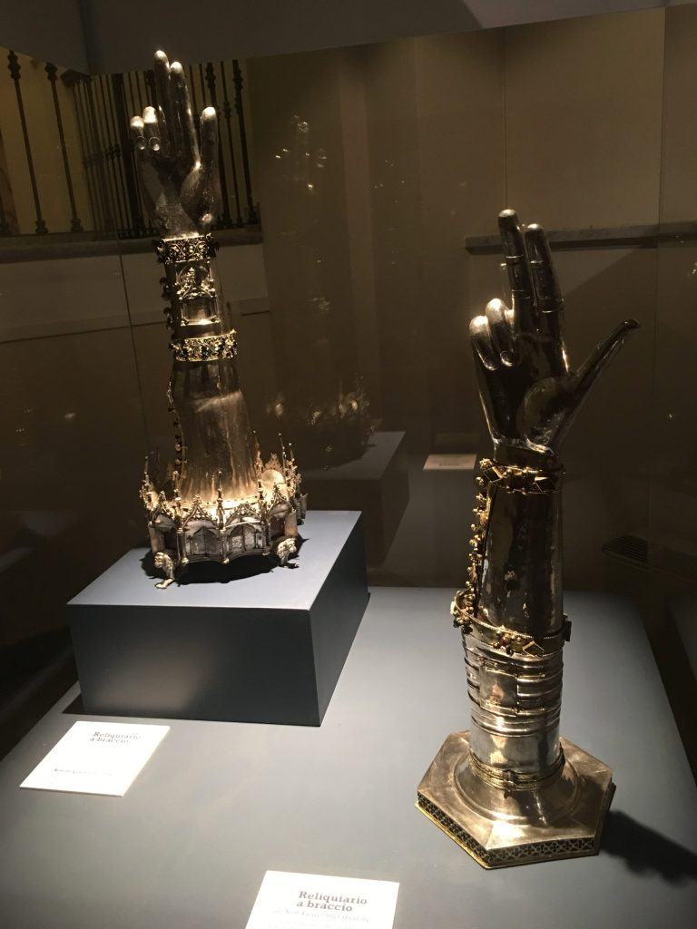 Reliquaries in the Cathedral Treasury Museum, Vercelli