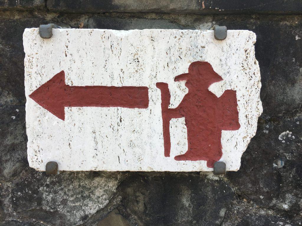 Pilgrim way in Pontremoli